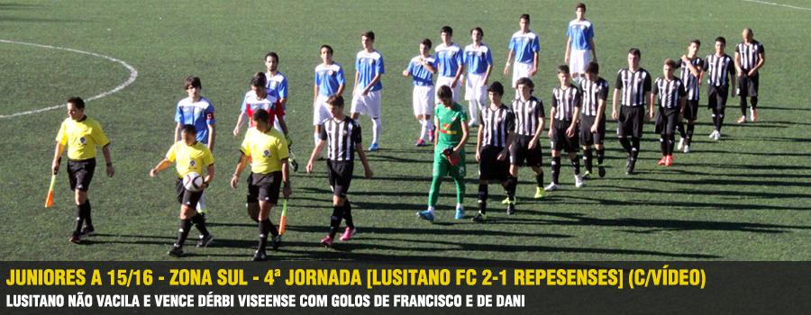 Juniores A 15 16 - Zona Sul - 4ª Jornada  Lusitano FC 2-1 Repesenses   (C Vídeo)