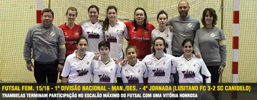 No último jogo da Fase de Manutenção Descida da 1ª Divisão Nacional de  Futsal Feminino 977770ffe63d9