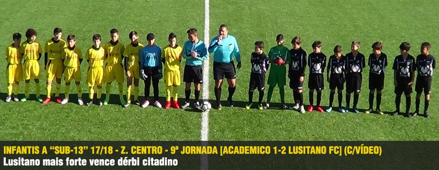 A equipa de Infantis A do Lusitano foi mais forte que o Académico e venceu  por 1-2 o dérbi citadino. 5e84b900778c8