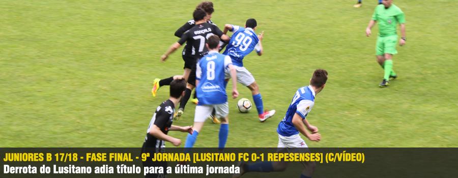 0ca2ad2b14 Juniores B 17 18 - Fase Final - 9ª Jornada  Lusitano FC 0-1 Repesenses   (C Vídeo)
